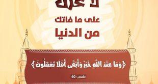تدبرات - وما عند الله خير وأبقى أفلا تعقلون